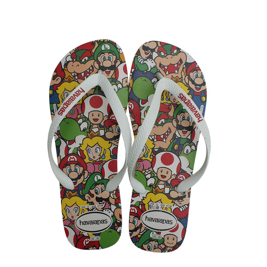 789a4deef Chinelo Havaianas Mario Bros Branca