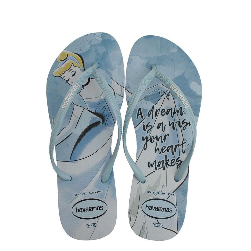 b18255229 Chinelo Havaianas Slim Princesas Azul - eurico