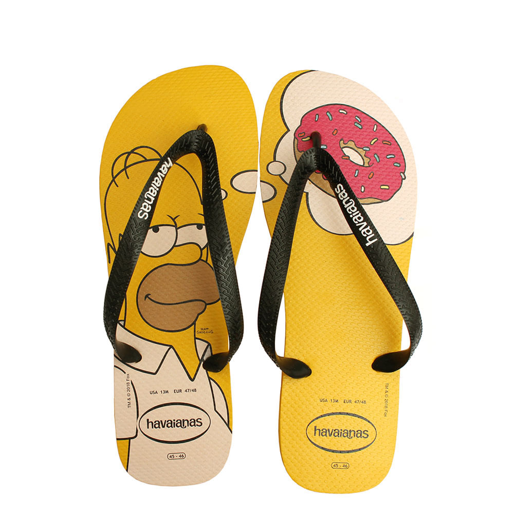 3e8783087 Chinelo Havaianas Simpsons Amarelo - eurico