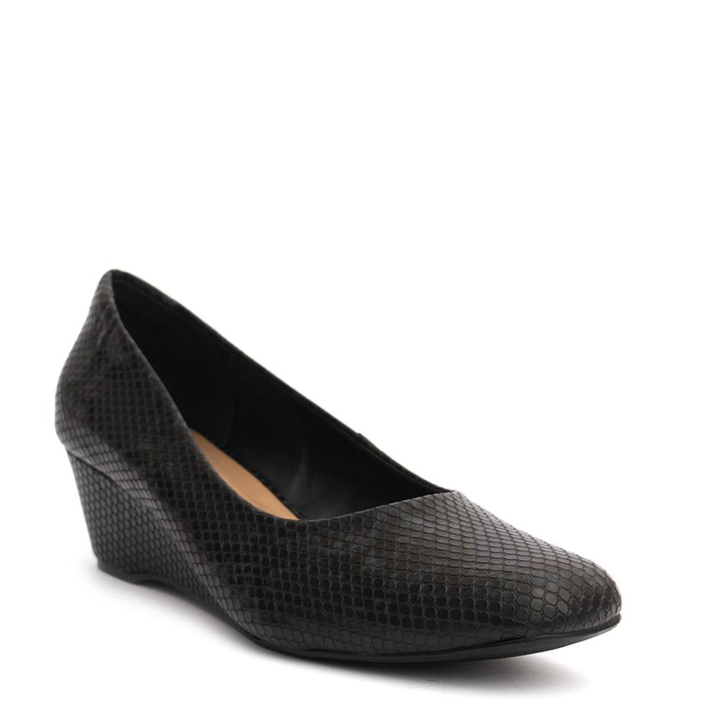 41c78d6dab Sapato anabela cobra Preto - eurico